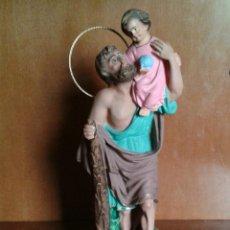 Antigüedades: ANTIGUO SANTO, SAN CRISTOBAL CON NIÑO JESUS.. Lote 49765811