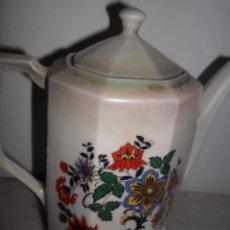 Antigüedades: ANTIGUA TETERA / CAFETERA PORCELANA REFLEJOS. Lote 49766089