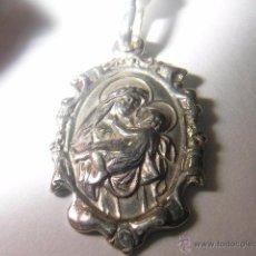 Antigüedades: MEDALLA ROSA DE LIMA EN PLATA DE LEY 12X17MM. Lote 195522690