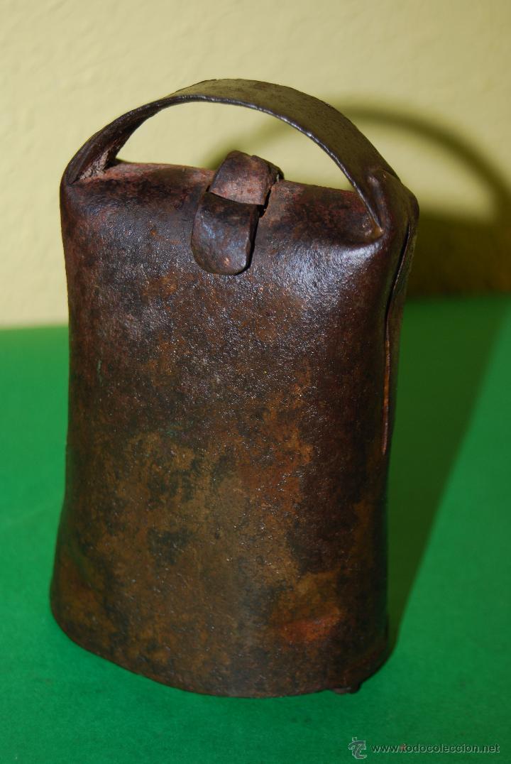 Antigüedades: CENCERRO DE METAL - CAMPANO - GANADO - GANADERÍA - CANTABRIA - Foto 7 - 49774620