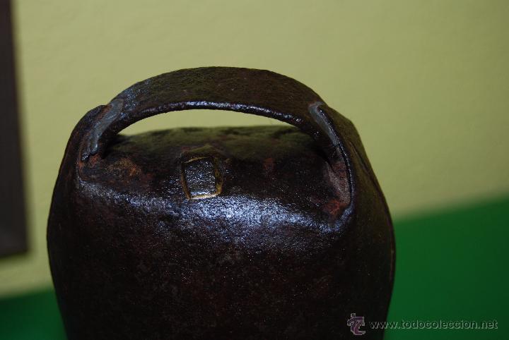 Antigüedades: CENCERRO DE METAL - CAMPANO - GANADO - GANADERÍA - CANTABRIA - Foto 4 - 49776864