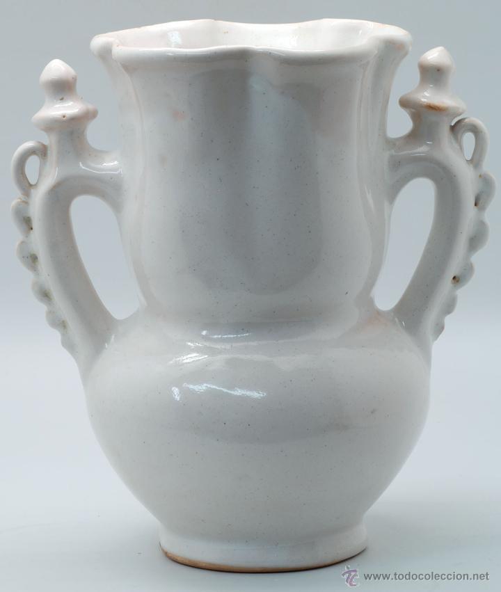 Antigüedades: Jarra novia Lorca cerámica Lario blanco con flores años 50 - Foto 3 - 49785062