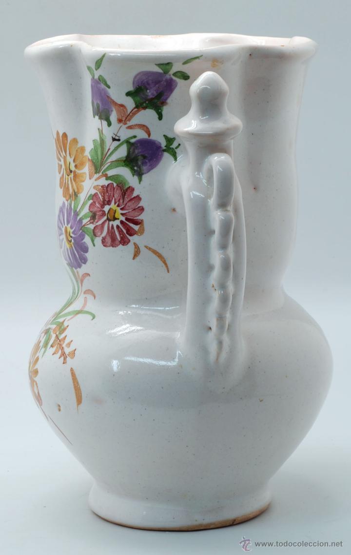 Antigüedades: Jarra novia Lorca cerámica Lario blanco con flores años 50 - Foto 4 - 49785062