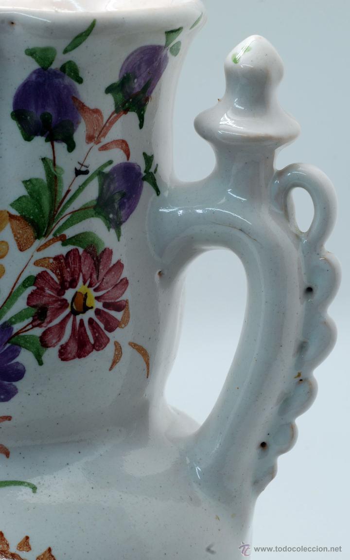Antigüedades: Jarra novia Lorca cerámica Lario blanco con flores años 50 - Foto 6 - 49785062