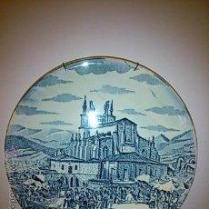 Antigüedades: PLATO DE LOZA. AURRESCU EN BEGOÑA 1842. REPRODUCCIÓN EXCLUSIVA PARA CAJA AHORROS VIZCAINA. 23 CM.. Lote 49787676