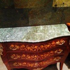 Antigüedades: COMODA DE MADERA CON SOBRE DE MARMOL. Lote 49791500