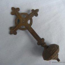Antigüedades: ANTIGUA CRUZ PROCESIONAL EN BRONCE.. Lote 49793588