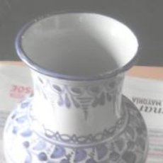 Antigüedades: FLORERO CERÁMICA, TALAVERA. Lote 49807063