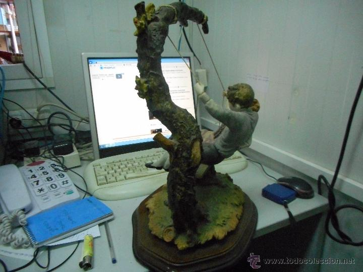 Antigüedades: preciosa figura gran tamaño pareja en columpio - Foto 5 - 49843315