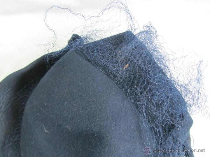 Antigüedades: Antiguo sombrero de señora con alfiler dorado - Foto 4 - 49853455