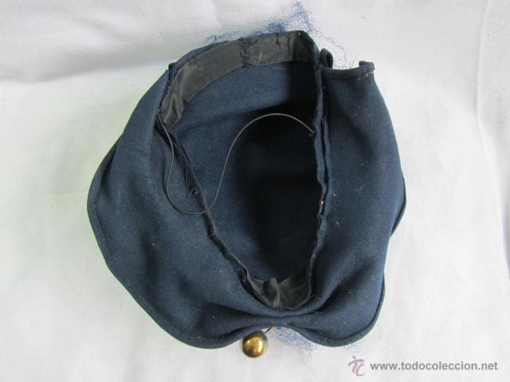 Antigüedades: Antiguo sombrero de señora con alfiler dorado - Foto 6 - 49853455