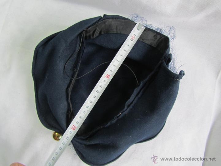Antigüedades: Antiguo sombrero de señora con alfiler dorado - Foto 9 - 49853455