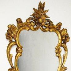 Antigüedades: FANTASTICA GRAN CORNUCOPIA ESPEJO MADERA DORADA ANTIGUO ORIGINAL. Lote 49855503