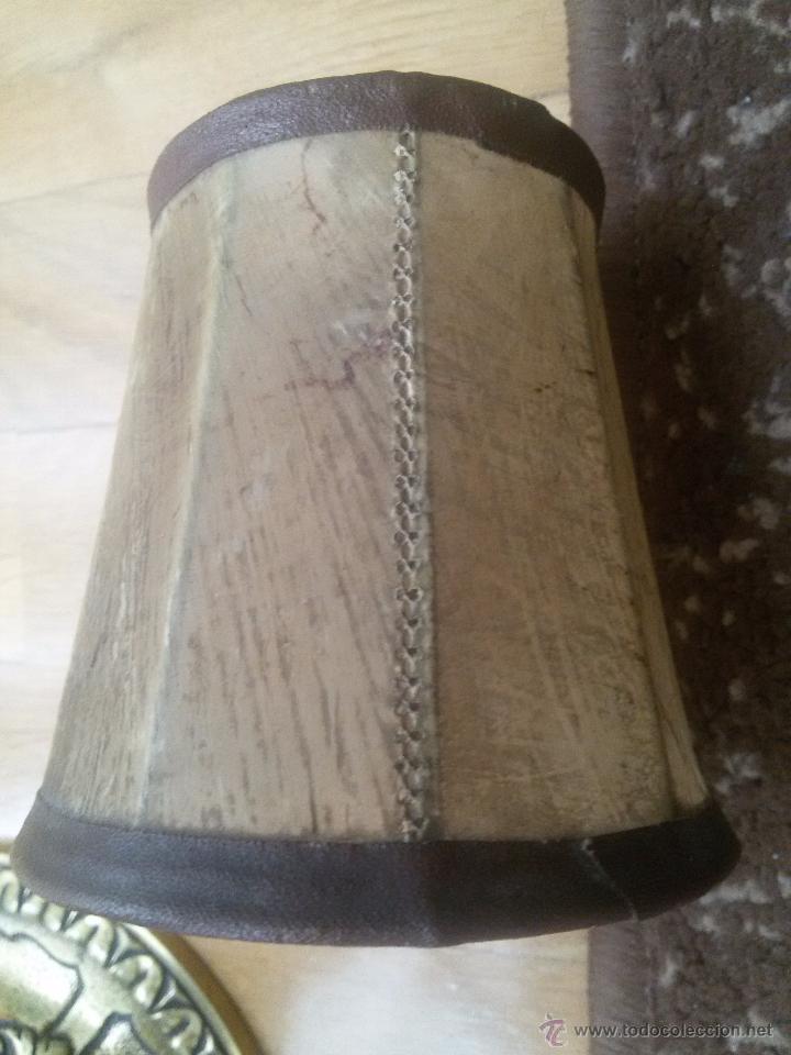Antigüedades: CANDELABRO EN BRONCE MACIZO-LABRADO-EXCELENTE FUNDICIÓN-DOS PISOS Y 4 LUCES-MUY ANTIGUO-TULIPAS PIEL - Foto 19 - 49859295