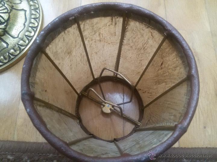 Antigüedades: CANDELABRO EN BRONCE MACIZO-LABRADO-EXCELENTE FUNDICIÓN-DOS PISOS Y 4 LUCES-MUY ANTIGUO-TULIPAS PIEL - Foto 20 - 49859295