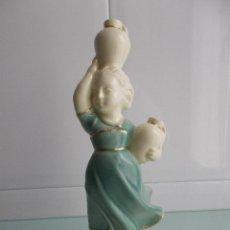 Antigüedades: FIGURA LECHERA PORCELANA O CERÁMICA, SELLADA EN BASE. Lote 49862459