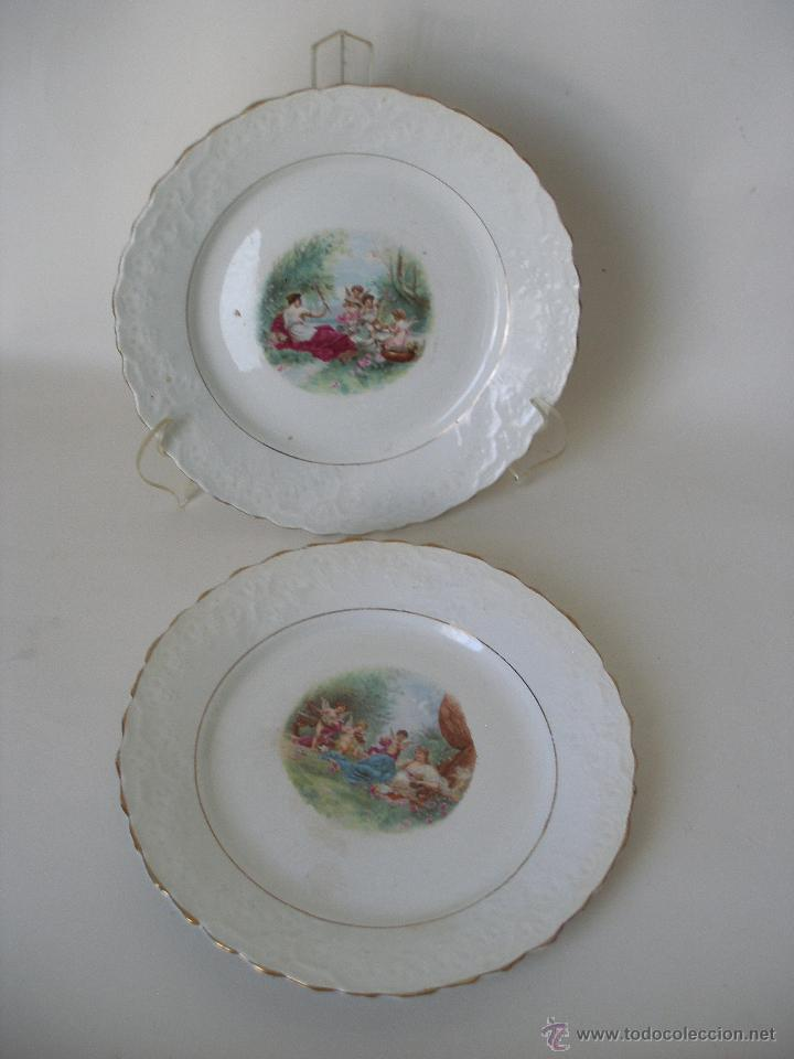 antiguos platos porcelana francesa con escenas comprar