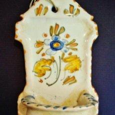 Antigüedades: BENDITERA DE CERÁMICA DE TALAVERA. . Lote 49882959