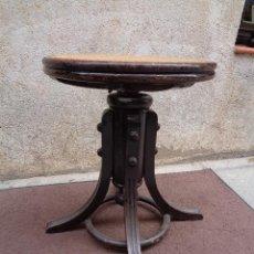 Antigüedades: SILLA GIRATORIA DE PIANO S.XIX. Lote 49885115