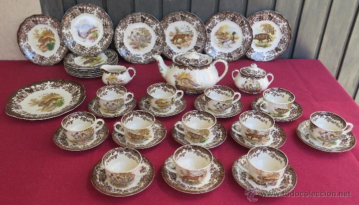 Gran vajilla inglesa de 12 servicios animales comprar porcelana inglesa antigua bristol en - Vajilla inglesa ...