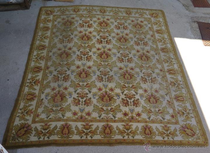 GRAN ALFOMBRA DE NUDO. BONITA ORNAMENTACION. GRANDE (Antiques - Home and Decoration - Old Carpets)