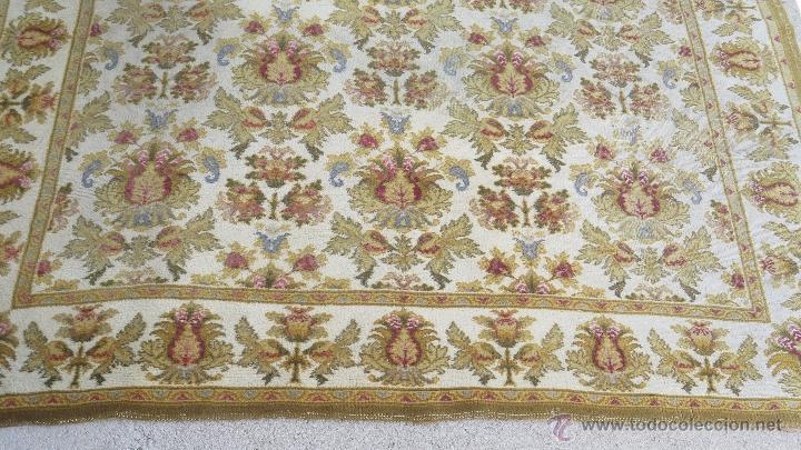 Antiques: GRAN ALFOMBRA DE NUDO. BONITA ORNAMENTACION. GRANDE - Foto 3 - 138610026