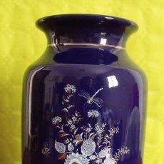 Antiquitäten - Jarrón Florero Cerámica Motivo Floral con Libélula - 49892923