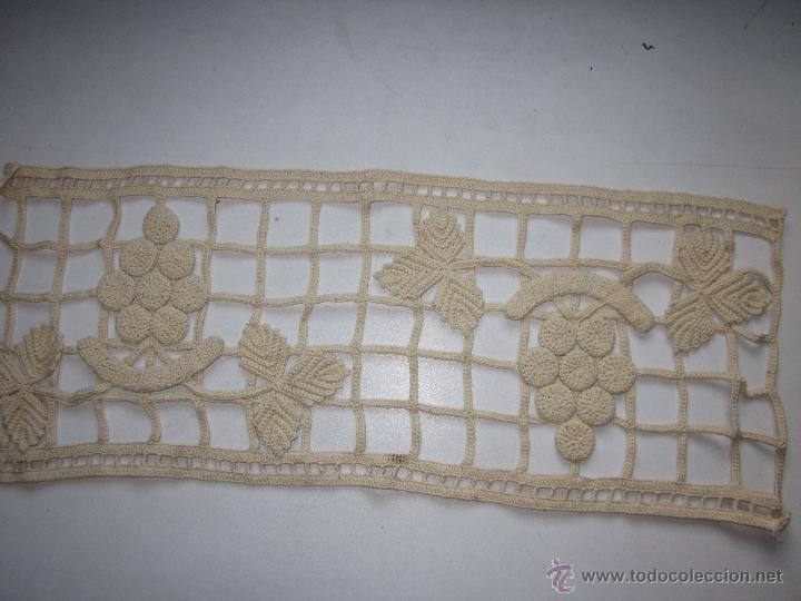 Antigüedades: 2 Antiguas pequeñas cortinas a ganchillo color crudo. - Foto 3 - 49896927