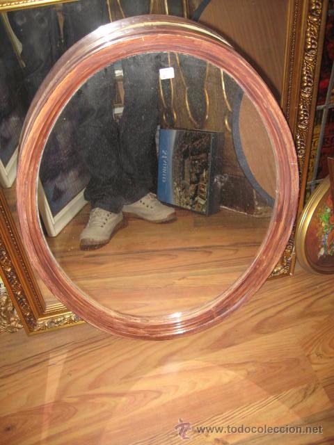 Espejo ovalado de plastico blanco pintado de ma comprar espejos antiguos en todocoleccion - Espejo de plastico ...