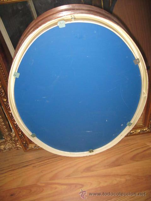 Espejo ovalado de plastico blanco pintado de ma comprar for Espejo ovalado blanco