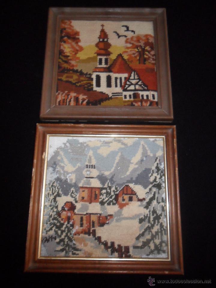Antigüedades: Dos bordados enmarcados - Foto 2 - 49897906