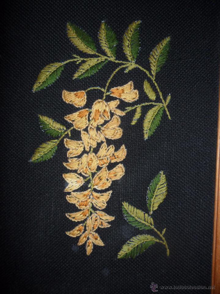 ANTIGUO BORDADO ENMARCADO (Antigüedades - Moda - Bordados)