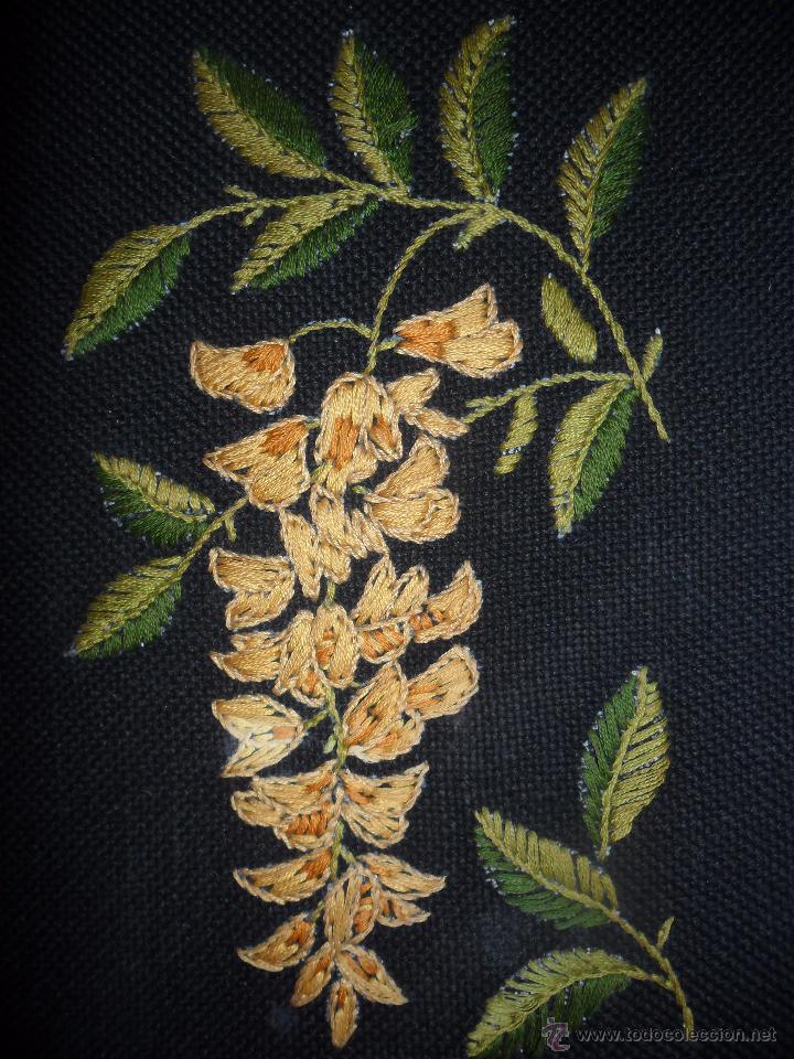 Antigüedades: Antiguo bordado enmarcado - Foto 3 - 49898049