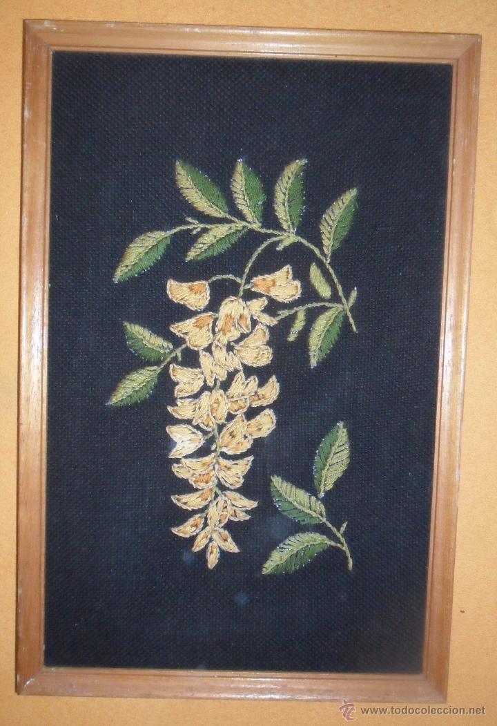 Antigüedades: Antiguo bordado enmarcado - Foto 4 - 49898049