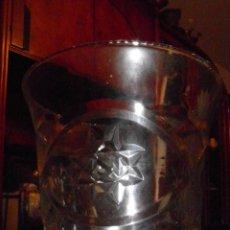 Antigüedades: JARRON-FLORERO EN CRISTAL TALLADO 20 CMS.ALTO,16 ANCHO . EXCELENTE ESTADO. Lote 49902004
