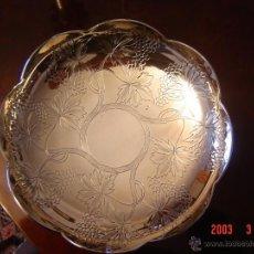 Antigüedades: FUENTE EN PLATA DE LEY. Lote 49906460