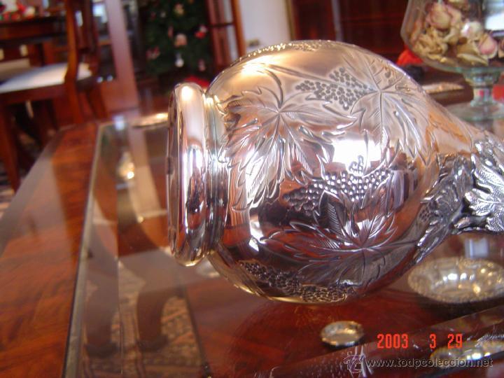 Antigüedades: JARRA DE PLATA DE LEY, PRECIOSA - Foto 3 - 49906595