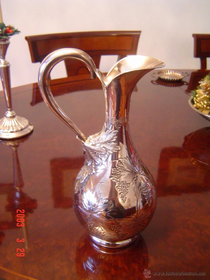 Antigüedades: JARRA DE PLATA DE LEY, PRECIOSA - Foto 5 - 49906595