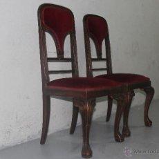 Antigüedades: SILLAS ANTIGUAS ESTILO CHIPPENDALE. Lote 49907991
