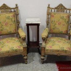 Antigüedades: PAREJA SILLONES. Lote 49918611