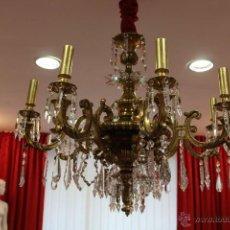 Antigüedades: LAMPARA BRONCE. Lote 49918880