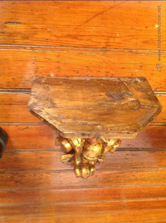 Antigüedades: MENSULA DE MADERA DORADA - Foto 5 - 49920260
