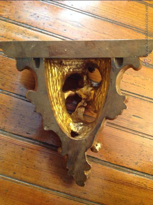 Antigüedades: MENSULA DE MADERA DORADA - Foto 4 - 49920287