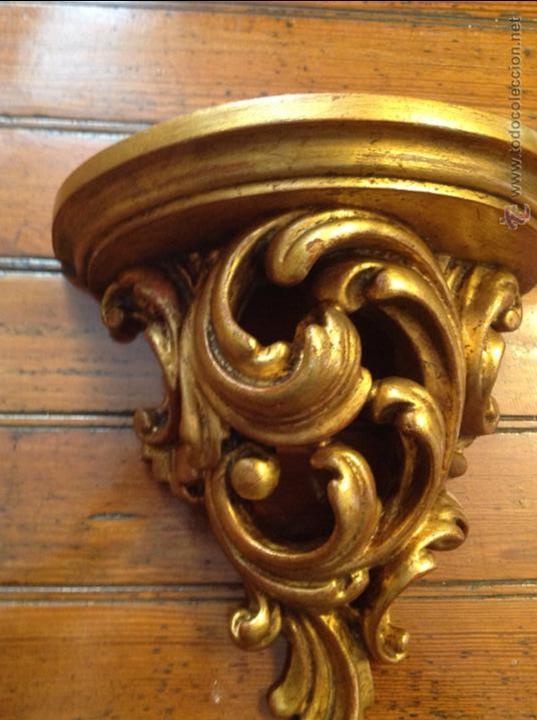 Antigüedades: MENSULA DE MADERA DORADA - Foto 5 - 49920287