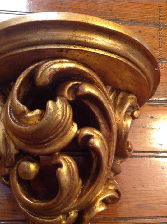 Antigüedades: MENSULA DE MADERA DORADA - Foto 6 - 49920287