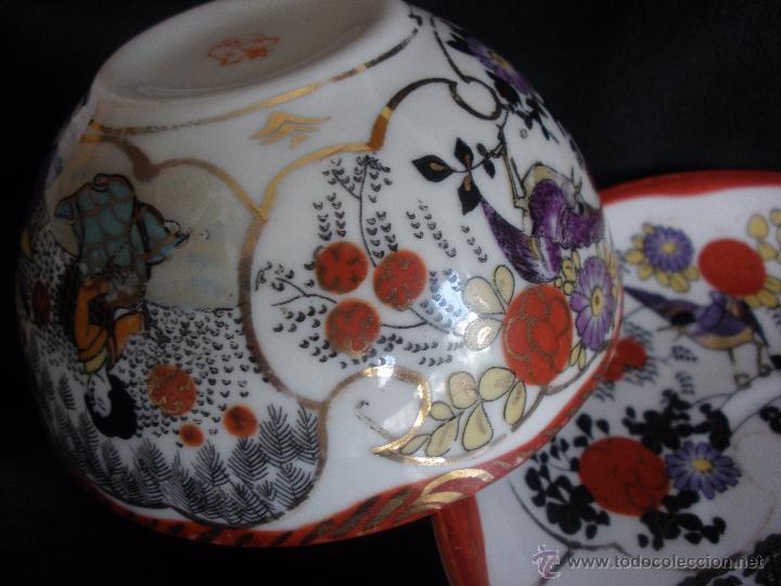 Antigüedades: PLATO Y TAZA JAPON CASCARA DE HUEVO PORCELANA JAPONESA. TAZA PORCELANA JAPON - Foto 5 - 43299426