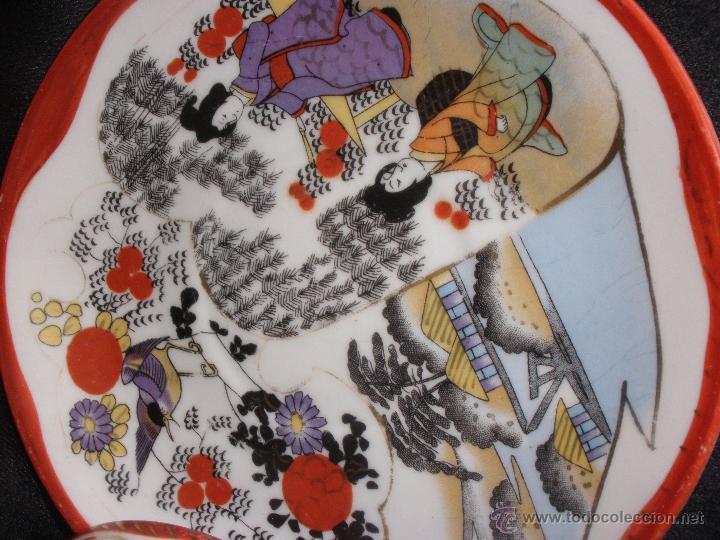 Antigüedades: PLATO Y TAZA JAPON CASCARA DE HUEVO PORCELANA JAPONESA. TAZA PORCELANA JAPON - Foto 6 - 43299426