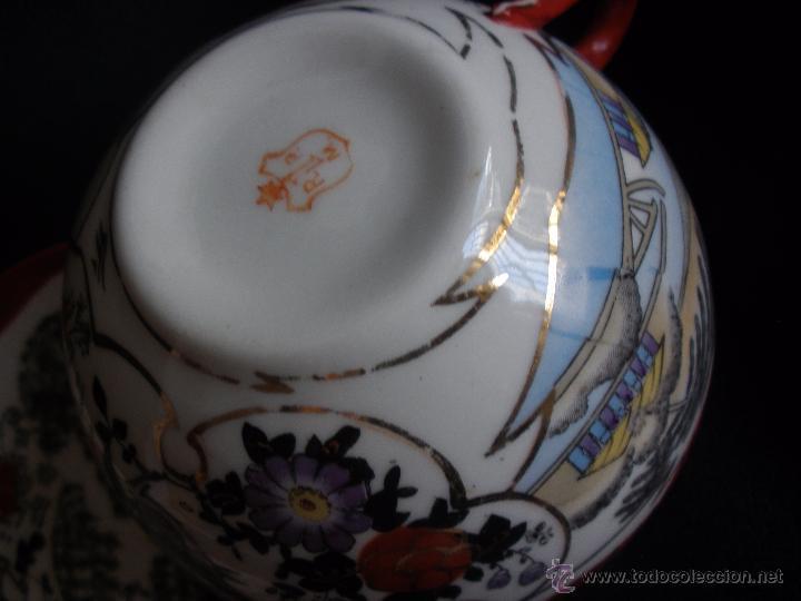Antigüedades: PLATO Y TAZA JAPON CASCARA DE HUEVO PORCELANA JAPONESA. TAZA PORCELANA JAPON - Foto 7 - 43299426