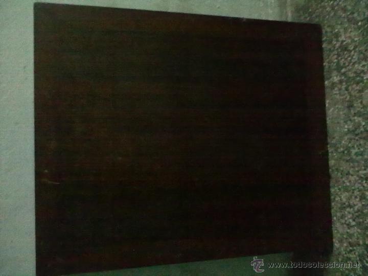 Antigüedades: MESA CAOBA EXTENSIBLE DE COMEDOR PARA RESTAURAR - Foto 2 - 49928103