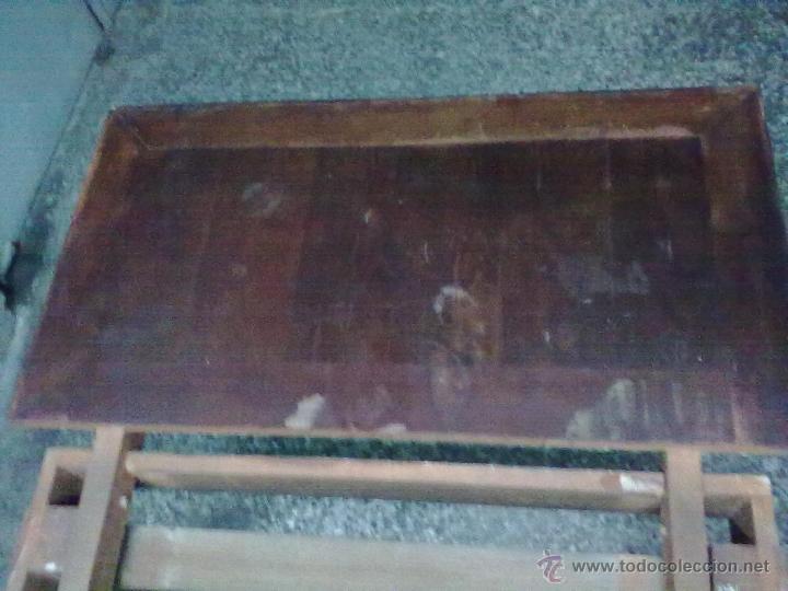 Antigüedades: MESA CAOBA EXTENSIBLE DE COMEDOR PARA RESTAURAR - Foto 4 - 49928103